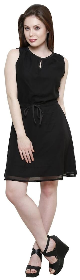 Line Dress A Black Women's Vastrasutra fwSR6qv