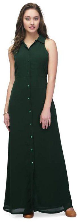 Vault Green Collar Long Dress