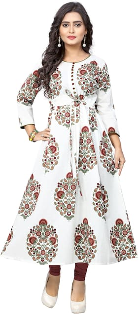 Women Printed Fit and Flare Kurta