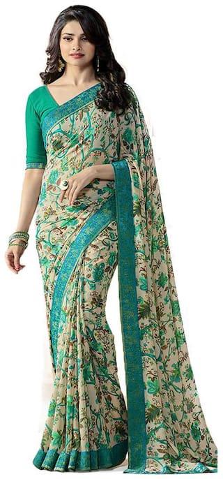 Vedant Green Universal Regular Saree , With blouse