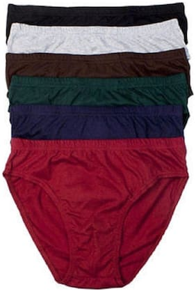 Men Cotton Solid Underwear ,Pack Of 5
