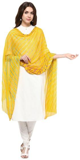 Veera Paridhaan Yellow Colour Printed Dupatta