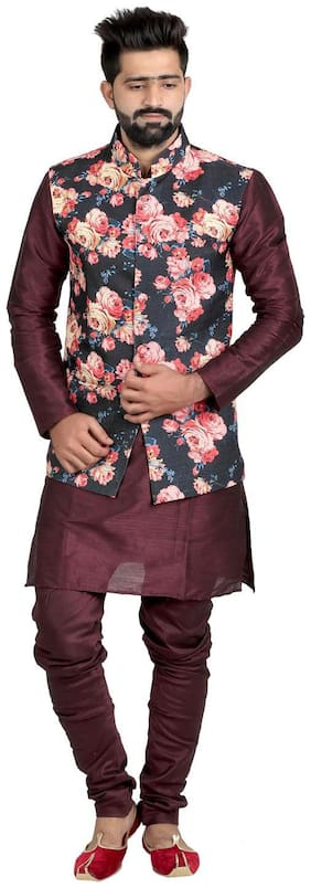 Men Printed Cotton Ethnic Jacket