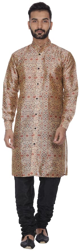 Men Silk Kurta Pyjama ,Pack Of 2