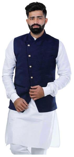 Veera Paridhaan Solid Blue Party wear Nehru Jacket