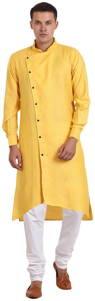 Veera Paridhaan Men Yellow Regular Fit Kurta