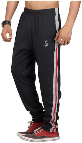 VEGO Men Blended Track Pants - Black