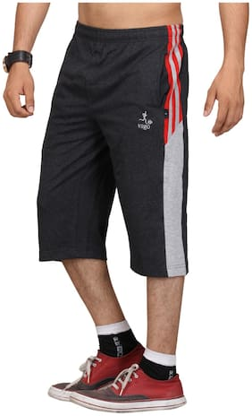 Men Textured Regular Shorts