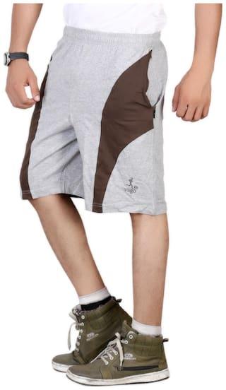 VEGO Men Grey Regular Fit Regular Shorts