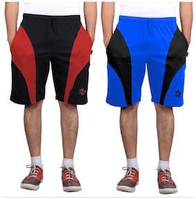 Men Textured Regular Shorts