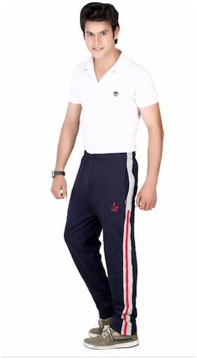 VEGO Men Cotton Track Pants - Blue
