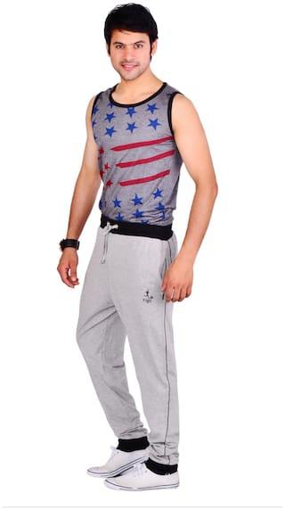 VEGO Men Blended Track Pants - Grey