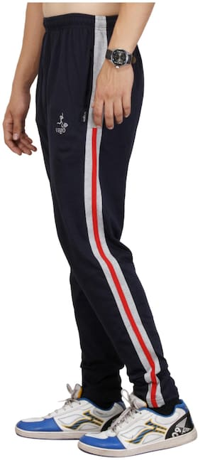 Vego Navy Cotton Track Pant