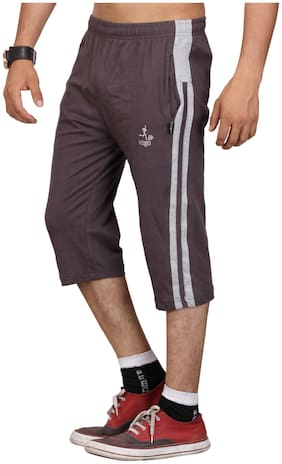 VEGO STEELGREY COTTON CAPRI