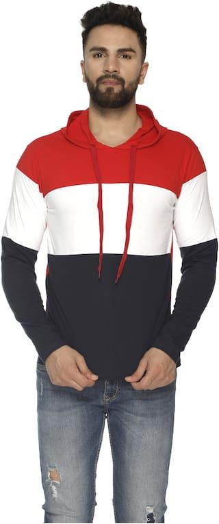 VEIRDO Men Multi Regular fit Cotton Hood T-Shirt - Pack Of 1