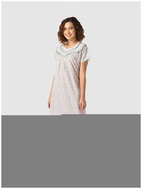 Vemante White Night Gown