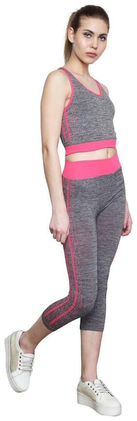 VENDY Women Blended Track Suit - Pink