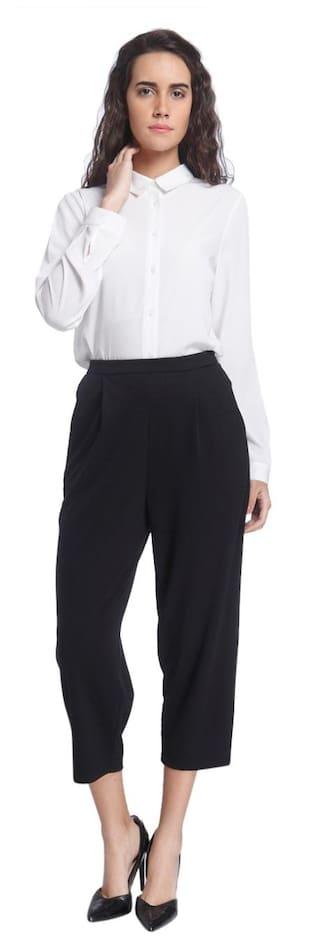 Solid Vero Tapered Pants Black Moda 6wr6Pq8f