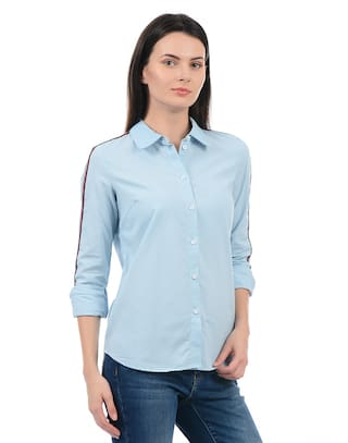 Blue Shirts Shirts Blue Moda Vero Shirts Blue Vero Vero Blue Moda Moda Vero Moda dxUw6Of