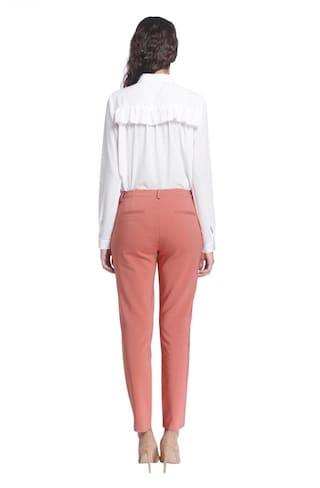 Pants Moda Slim Brown Vero Solid wSYqIqd