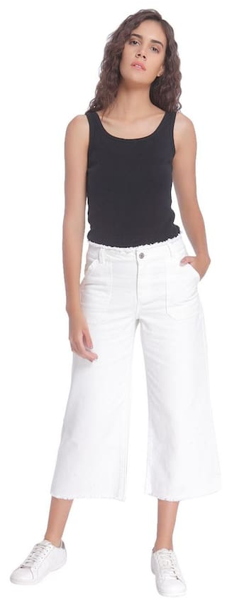 Jeans Normal Waist Moda Vero Denim White CvFq4Xxxwp