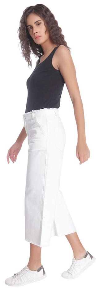 Waist White Vero Denim Normal Jeans Moda x4qI1BU