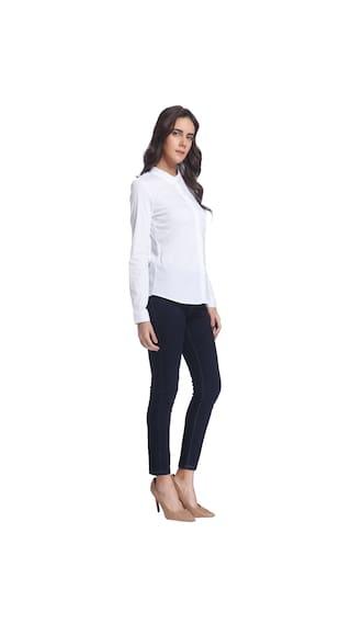 Solid White Shirt Moda Vero Classic wxZXEWqF