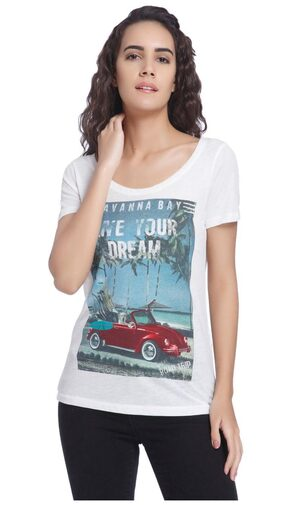 Vero Moda White Graphic T-shirt
