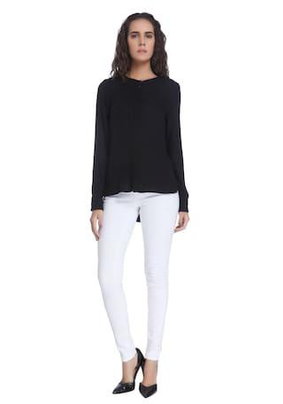 Moda Solid Women Casual Shirt Vero Black df1wqd7