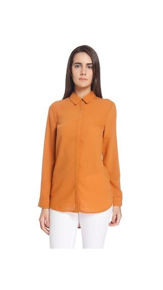 Vero Moda Women Brown Solid Shirts