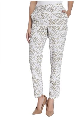 Vero Moda Women White Printed Casual Pant