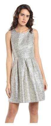 0f2ebc9ed24 Vero Moda Cotton Geometric A-line Dress Grey