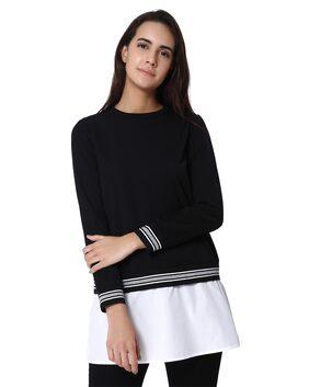 Vero Moda Women Polyester Solid - Regular Top Black