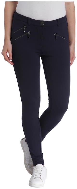 Vero Moda Women Blue Slim fit Regular trousers