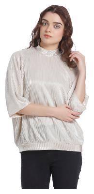 Vero Moda Women Cotton Geometric - A-line top White