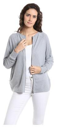 Vero Moda Women Geometric Hoodie - Grey