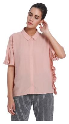 Vero Moda Women Regular fit Printed Shirt - Pink