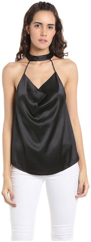 Vero Moda Women Solid Regular top - Black