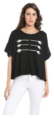 Women Geometric Round Neck Top