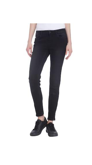 Vero Moda Women Black Casual Solid Jeans