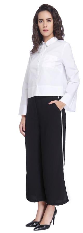 Casual Women Solid Vero Pant Black Moda pO1Aqwx8B