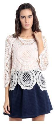 Vero Moda Women Geometric Regular top - White