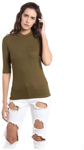Vero Moda Geometric Green T Shirt