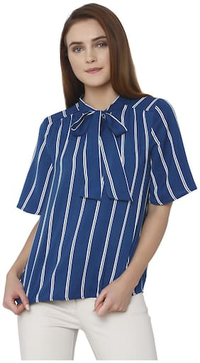 Women Striped Tie-up Top