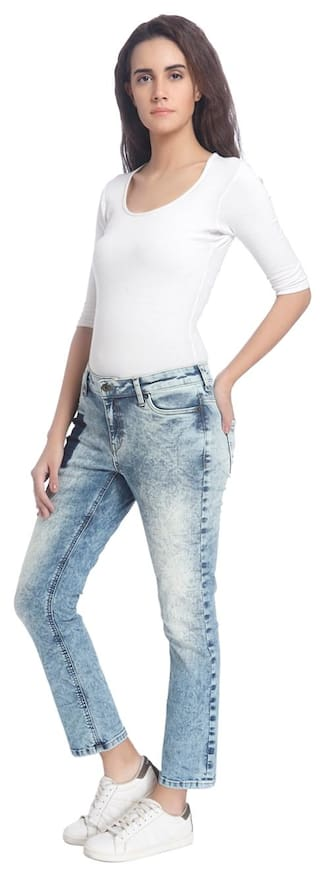Casual Women Blue Vero Solid Jeans Light Moda H8wnq7vX