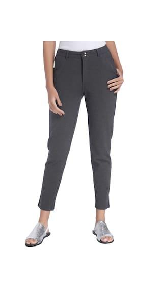 Vero Moda Regular Fit Women Grey Trousers