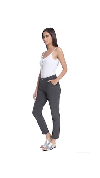 Grey Trousers Vero Women Fit Regular Moda XqXIw14