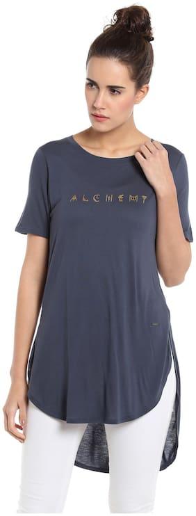 Vero Moda Women Printed Round neck T shirt - Blue