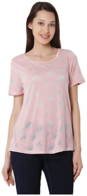 Vero Moda Women Solid Round neck Tank top - Pink