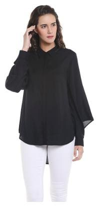 Vero Moda Women Regular fit Geometric Shirt - Black